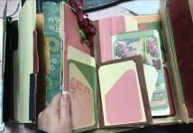 Inside the burgundy lap book