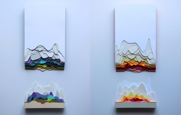 Maud Vantours 3D Paper Art purple woods