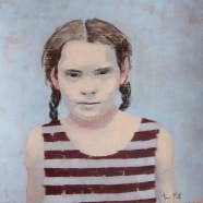 Painting of a girl portrait.