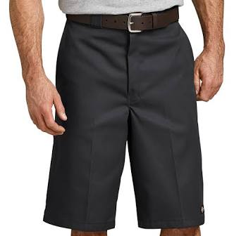 "13"" LOOSE FIT MULTI-USE POCKET WORK SHORTS (BLACK)"