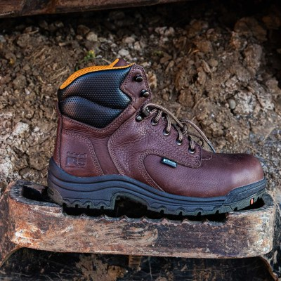 TITAN Women's Waterproof Work Boot (Steel Toe)