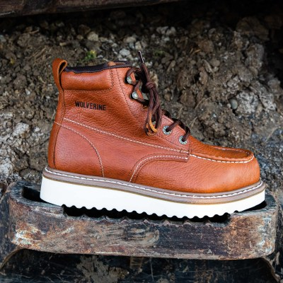 6″ Work Wedge Moc Toe (Steel Toe)