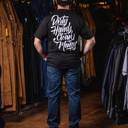 DHCM STACKED TEE BLACK