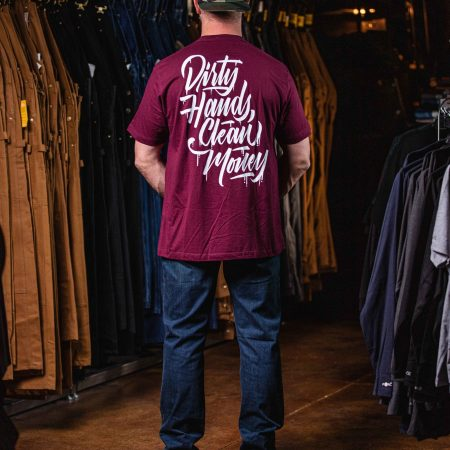 DHCM STACKED TEE MAROON