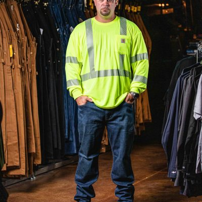 Class 3 High Visibility Force Long Sleeve T-Shirt (Brite Lime)