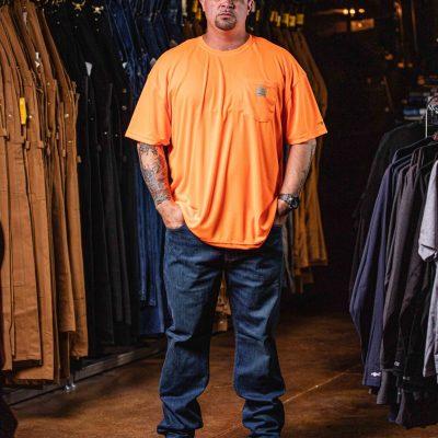 Force Color Enhanced Short Sleeve T-Shirt (Brite Orange)