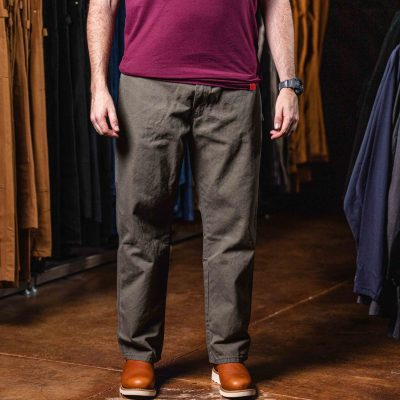 Relaxed Fit Straight Leg Carpenter Duck Jeans (Moss Green)