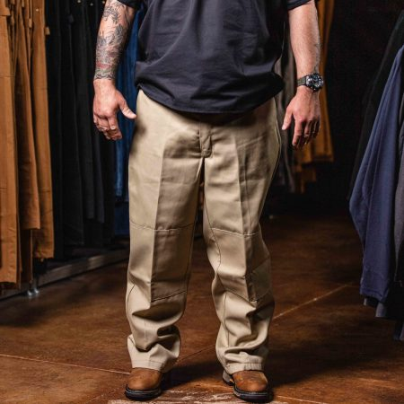 LOOSE FIT DOUBLE KNEE WORK PANT (KHAKI)