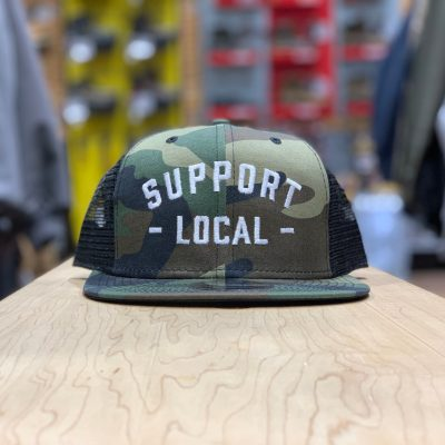 Support Local Meshback (Camo / White)