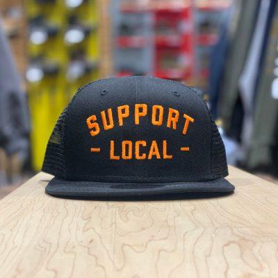 Support Local Meshback (Black / Orange)