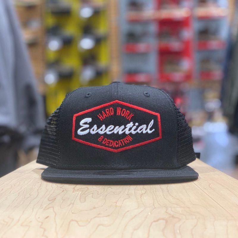 ESSENTIAL MESHBACK – HARD WORK (BLK/RED)