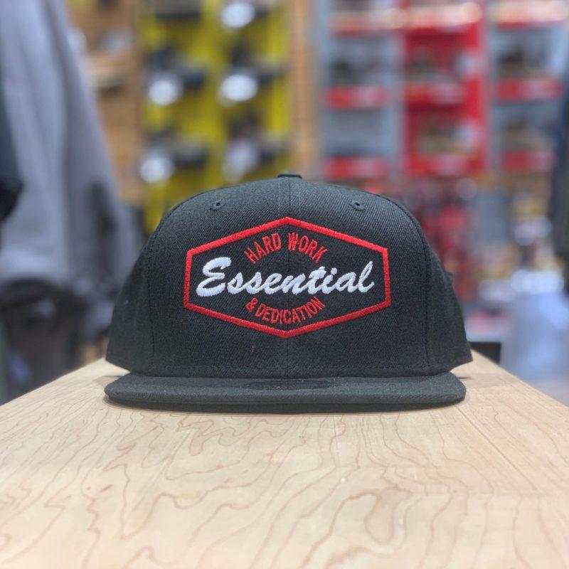 ESSENTIAL CANVAS SNAPBACK – HARDWORK  (BLACK & RED)