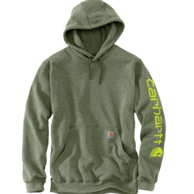 Midweight Hooded Logo Sweatshirt (Olivine Heather)
