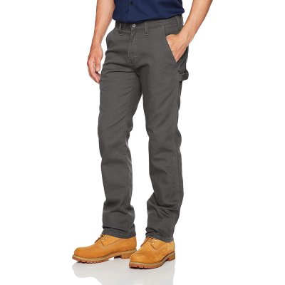 Flex Regular Fit Straight Leg Tough Max Duck Carpenter Pants (Stonewashed Gray)