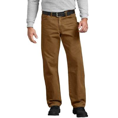 Relaxed Fit Straight Leg Carpenter Duck Jeans (Brown Duck)