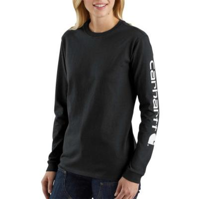 WK231 Workwear Logo Long Sleeve (Black)
