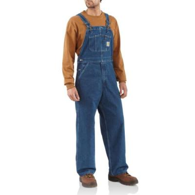 R07 – Washed Bib Overall – Unlined (Denim)