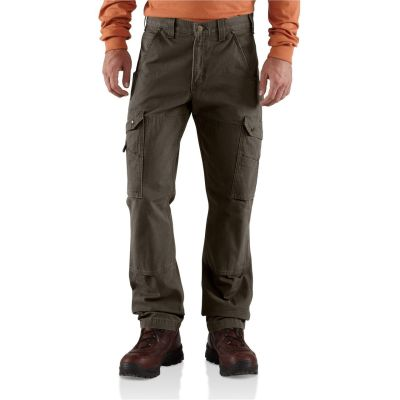 Men's Ripstop Cargo Work Pants (Dark Brown)