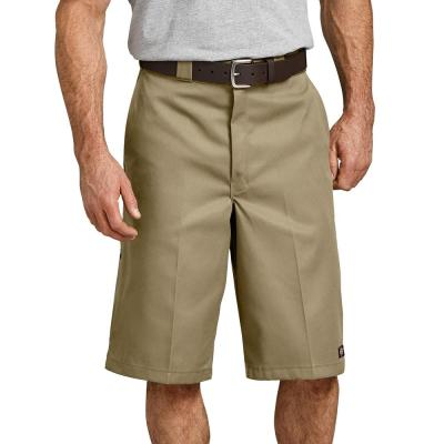 13″ Loose Fit Multi-Use Pocket Work Shorts (Khaki)