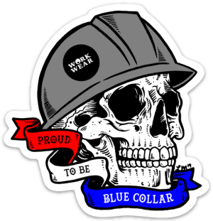 Proud to be Blue Collar Sticker (Small)