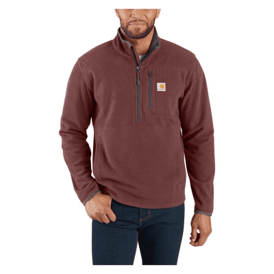 Dalton Half-Zip Fleece Jacket (Dark Cedar Heather)