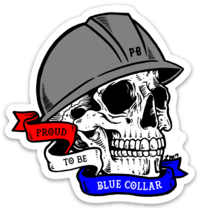 Proud to be Blue Collar Sticker – Medium