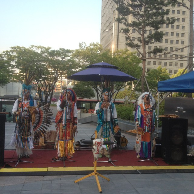 Beautiful Native American song and dance at the Street Fair, May 28, 2016