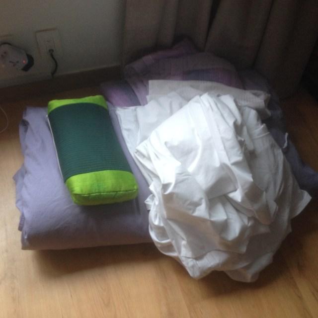 My uh, sleeping bag at the hostel. May 26, 2016