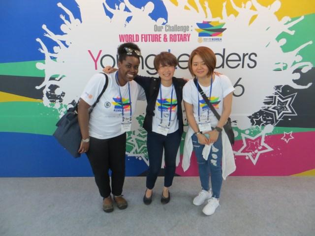 Haruka (Japan), Chloe (Korea), and I, posing for the camera! May 27, 2016