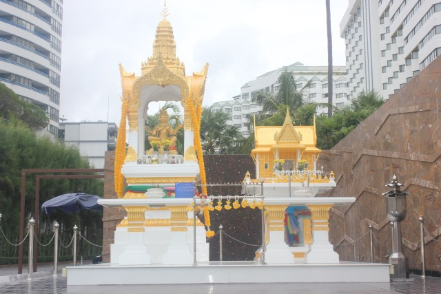 My understanding about these religious 'monuments' is that the local people build their gods, godesses, and spirits 'homes' as a sign of respect so that the spirits don't inhabit their own homes. This was one of the perplexing and disturbing things I encountered in the predominantly Buddhist nation, July 29, 2016