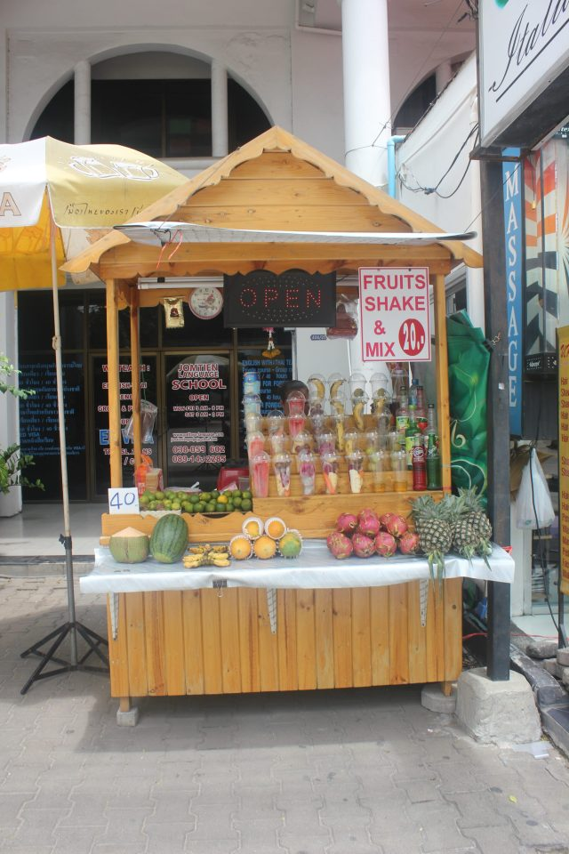 75 cents, large size, exotic fruit smoothie-blew my mind, July 29, 2016