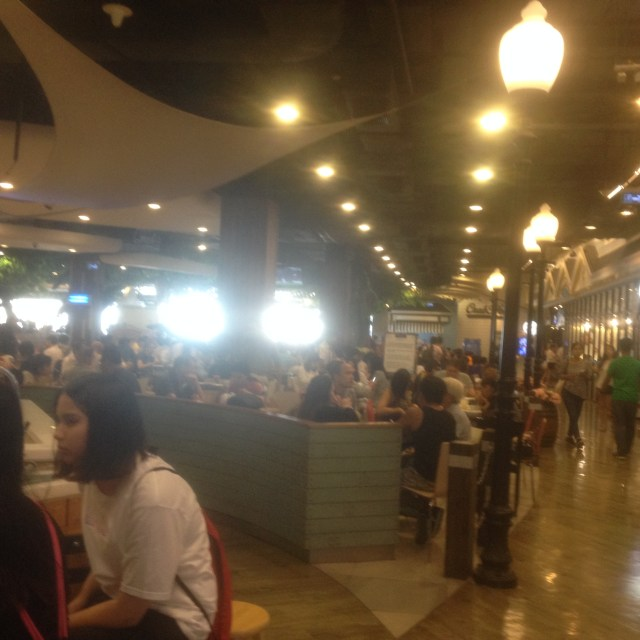 Terminal 21 Food Court. As you can see it is packed! September 3, 2016