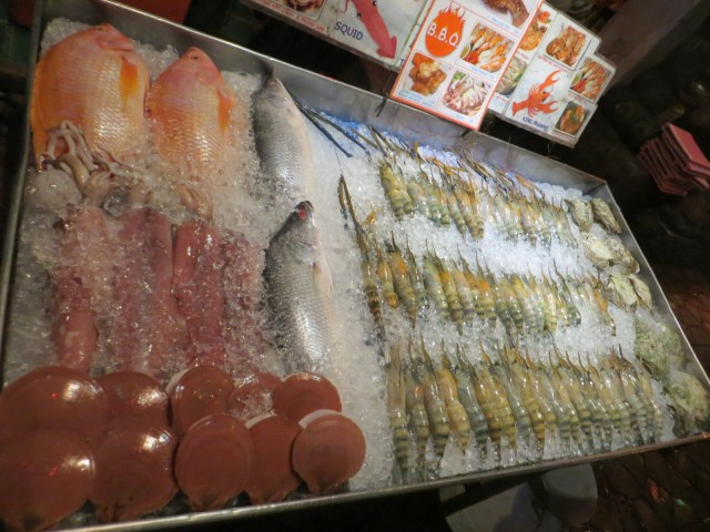 Ice cold, raw seafood, September 1, 2016
