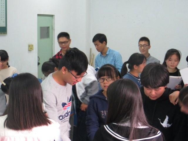An in class ESL activity, October 12, 2016