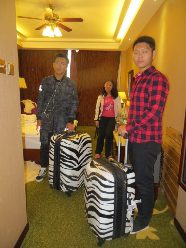 Some of my students helping me move from the hotel to my apartment on campus, October 14, 2016