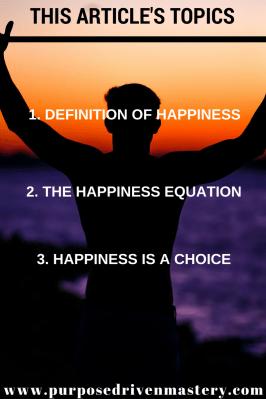 Happiness - Purpose Driven Mastery