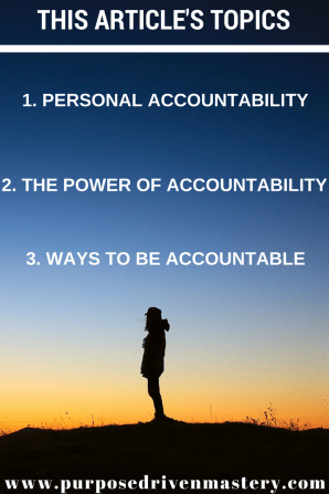 Personal Accountability - Purpose Driven Mastery