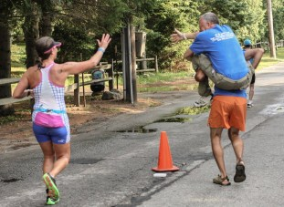 The high five at mile 12.