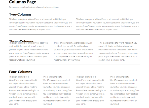 Author Pro- Page showing column layout