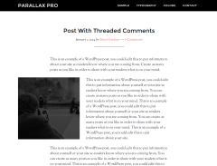 Parallax Pro- Post with threaded comments