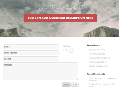 Contact Form with Vertex