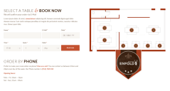 Restaurant Booking Panel in Enfold