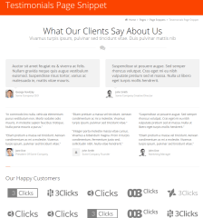 3clicks- Testimonial page snippet