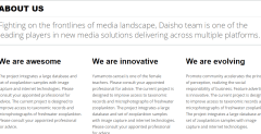 About us page of Daisho theme