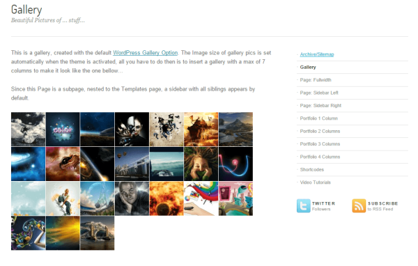 Angular- Grid layout of gallery images and sidebar at right