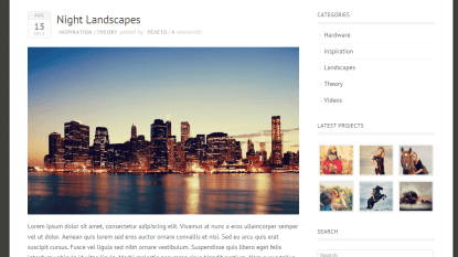 Blog of Expression theme