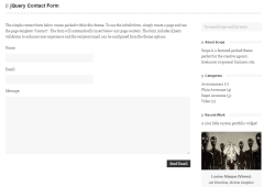 Contact form of scope theme