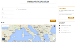 Contact page of Bazar Shop theme