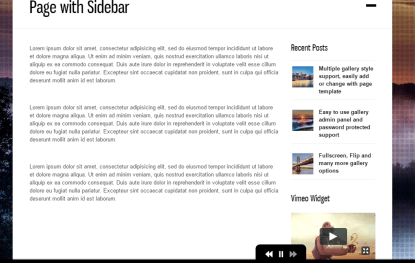 DK- Simple page layout with sidebar. Also supports fullwidth page template