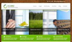 ECOBIZ- Front page designed with Kwicks slider. Also nivo slider is provided